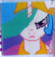 MLP Princess Celestia perler beads. by MeLoDyMiiau on deviantART
