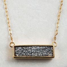 Druzy Bar Necklace, Alexandra Beth Designs