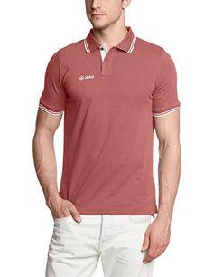 JAKO Herren Polo Shirt Champ, Berry Weiß, M, 6305