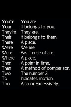 Know it. Grammar.
