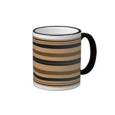 Brown and Black Stripes Coffee Mug