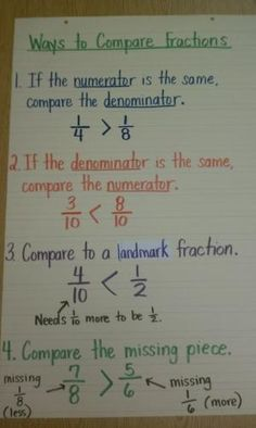 Ways to compare fractions... 4. NF. 2 Extend understanding of fraction equivalence and ordering by carlasisters