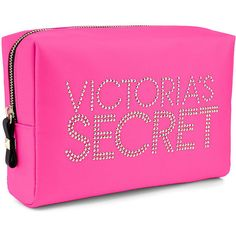 Victoria's Secret Large Stud Cosmetic Bag ($19) ❤ liked on Polyvore featuring beauty products, beauty accessories, bags & cases, bags, makeup bags, cosmetic bag, travel bag, makeup bag case, purse makeup bag and make up purse