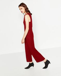 Image 2 of PIQUÉ JUMPSUIT from Zara