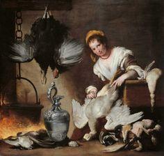 Bernardo Strozzi, la cuoca
