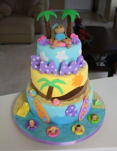 Emma's Beach Cake by Cakes by Dusty, via Flickr