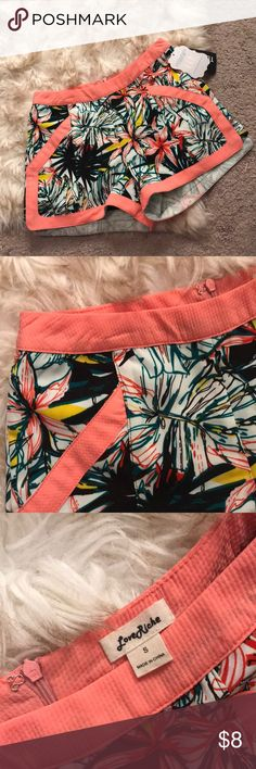 Floral Shorts Brand new. Never worn. Bought from boutique. Size small Love Riche Shorts