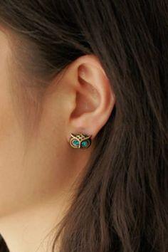 Vintage Owl Ear Stud, #Wendybox