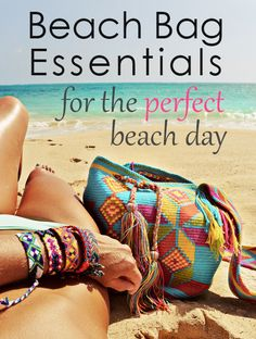Beach Bag Essentials, nice packing list for the beach