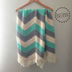 Chevron #4  (similar to #3 in texture but has the tassels on the end which Logan loves) making this for Lo in cute boy colors