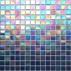 Kaleidoscope ColorGlitz Iridescent Glass Mosaic Tile, sold by the 1.15 s.f. sheet - Broadway Blue