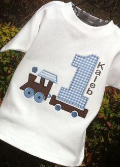 Boys  Birthday Train with Oversized Age by lilshabebe on Etsy, $21.95