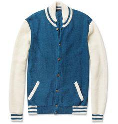 Monsieur Lacenaire Teddy Knitted Alpaca Varsity Cardigan   MR PORTER