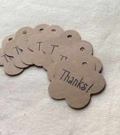 Mini Flower Blossom Thank You Gift Tags for Your by BethAndOlivia