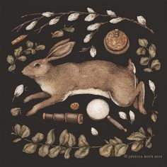 Archival giclee print of Rabbit's Garden Collection, illustrated by Jessica Roux. Printed at x to order on premium, thick matte paper by a museum quality printer. Rabbit Garden, Rabbit Art, All Nature, Walking In Nature, Illustrations, Illustration Art, Building Illustration, Freelance Illustrator, Framed Art Prints