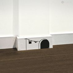 Een leuk grapje in de kinderkamer: een muizenhuisje in de plint