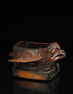 A Tlingit bird effigy bowl