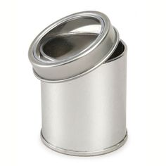 This metal tin with a lid is perfect for paper crafting projects.  Cover with paper, fabric and embellishments to make an adorable keepsake tin or gift.  Has a clear window on the top to let you see what is inside.  Measures 2.25 inches in diameter and 2.5 inches in height.Note: Storage items are often shown with the craft supplies they are intended to organize. Unless otherwise noted above, these supplies are not included in your purchase.
