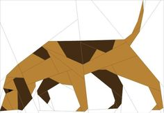 (7) Name: 'Quilting : Basset Hound Dog, Paper Pieced