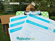 How To Move Yourself - Moving Out - House Planner - To Do - Checklist (PRINTABLE FILE)