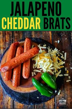 Bold flavor with a spicy jalapeno zing and sharp cheddar cheese, this all beef bratwurst is calling for the grill. Load them up with your favorite toppings on a bun or slice and serve as an appetizer. #brats #bratwurst #jalapeno #cheddar Smoked Jalapeno, Jalapeno Cheddar, Jalapeno Recipes, Cheddar Cheese, Beef Recipes, Sweet And Sour Beef, Beef Skillet Recipe, Easy Mongolian Beef, Beef Appetizers