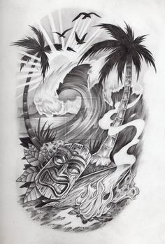 samoan tattoo designs and meanings Tiki Tattoo, Surf Tattoo, Hawaiianisches Tattoo, Tattoo Bein, Samoan Tattoo, Tattoo Forearm, Tattoo Quotes, Polynesian Leg Tattoo, Ocean Sleeve Tattoos