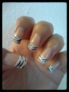 French Tip Zebra Stripes