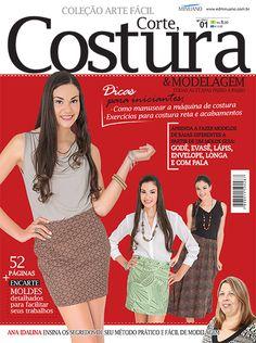Artesanato - Tecidos - Corte Costura : COL ARTE FACIL CORTE COSTURA E MODELAGEM - Editora Minuano