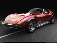 Front of a 1969 Corvette Stingray by Justin Wyatt | 3D | CGSociety