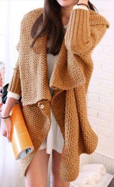 Beige Long Sleeve Fur Collar Hooded Cap Wool Coat
