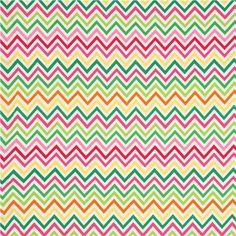 Robert Kaufman knit fabric zig-zag pattern pink-green 2