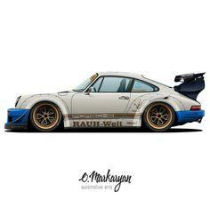 Porsche custom by RWB
