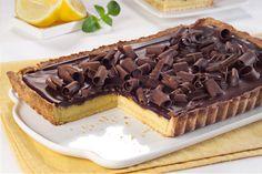 Tarta de chocolate y limón.    Para leer la #receta, hacé click en la imagen.     #Aguila #chocolate