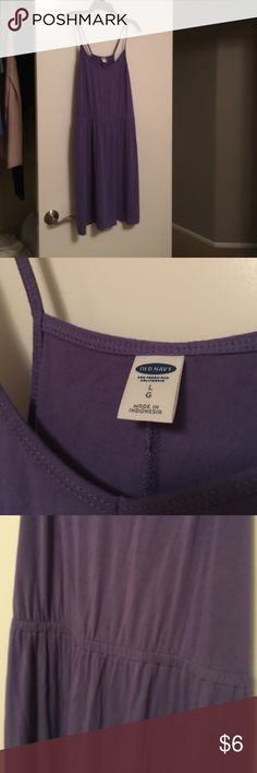 Old Navy Cami lavender summer dress Cinched waist lavender dress in a sz large. It's rayon and spandex so it doesn't wrinkle too much and it's very soft. Old Navy Dresses Mini