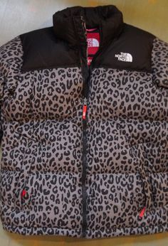 Cheetah print North Face coat<3