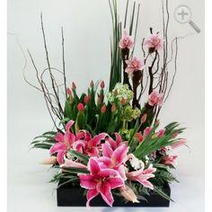 Floreria - Flores Elegantes de Mexico arreglo exotico de orquideas