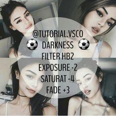 Dark filter for selfie , i really love this vsco filter // follow us on instagram @vsco_the_tutor