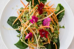 SPICY CARROT + QUINOA SALAD WITH COCONUT LIME DRESSING