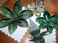 Kusudama Irish Green Origami Paper Flower by GracelinePaperStudio, $8.50