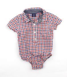 600c849c8 Baby Gap Infant Short Sleeve CheckShirt One-Piece Bodysuit in Size 3-6  Months