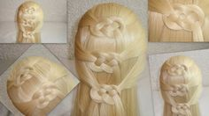 Peinado Nudo Corazón Celta / Celtic Heart Knot Hairstyle /  San Valentin♥