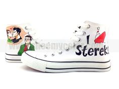 Sterek Converse whoever made these are amazing!