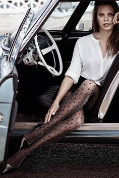 *Glare Sparkle Polka Dot Tights Source by Photography Poses, Fashion Photography, Sexy Autos, Models Men, Girl Models, Car Poses, Photographie Portrait Inspiration, Polka Dot Tights, Polka Dots