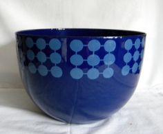 FINEL ENAMEL BOWL Vintage Enamelware, Vintage Kitchenware, Cheese Dome, Finland, Scandinavian, Kitchen Decor, Pots, Butter, Colour