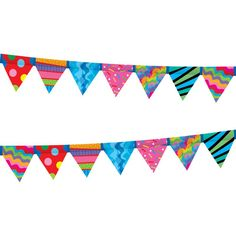 These Poppin Patterns Pennant Borders are perfect for decorating the classroom, the bulletin board, doors, the teachers' lounge, and more!