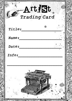 FREE Vintage Digital Stamp - Another ATC