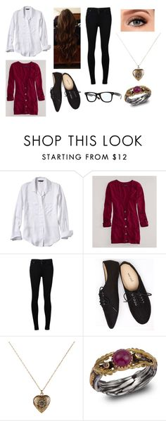 """First Day on the Job"" by amanda-gail on Polyvore featuring Banana Republic, American Eagle Outfitters, Citizens of Humanity, Wet Seal, Accessorize, Emma Chapman and Ray-Ban"