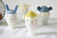 Free crochet pattern for egg cozies (in French)