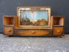 Kitsch Jesus Shrine Inset in Miniature Furniture by salvagedspace, $32.00
