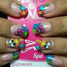 Chic Nails, Trendy Nails, Nail Manicure, Toe Nails, Hello Nails, Natural Acrylic Nails, Nail Art Designs Videos, Pedicure Designs, Colorful Nail Designs